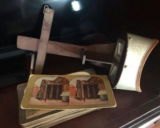 what happened to Jesus? Oh wait, I put my glasses on and turns out this is an antique wooden Viewmaster Stereoscope with images!