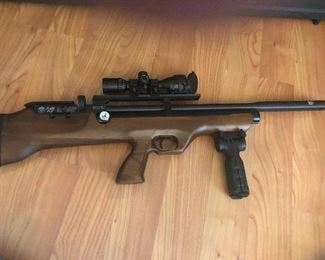 Hatsan Flash Pup QE with scope and grip  air rifle this looks very involved