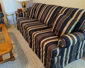 Immaculate striped sofa