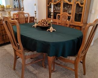 Country French dining table & chairs