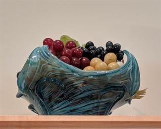 Art glass fruit bowl
