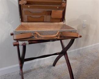 Luggage rack & vintage attache case