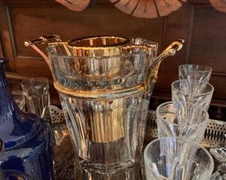 The Harcourt ice bucket with 24ktgold inset. $12,000.00 new at your local Baccarat store!