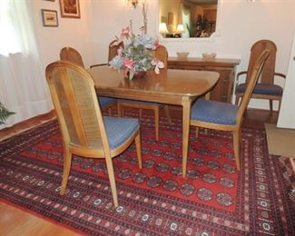 Sears Symphony 1960s dining table, 6 chairs, sideboard and buffet