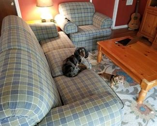 Couch and Chair...Dog not included!