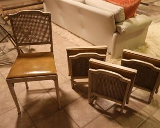 Set of 4 Antique Fold Up Chairs : $250