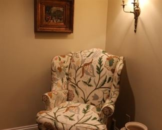 Needlepoint William Allen Armchair: $400