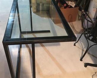 Crate & Barrel Glass Desk - $150