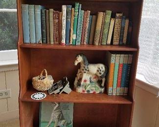 books, cabinet, chalkware