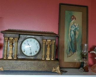 Seth Thomas clock, gorgeous mother print
