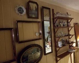 antique frames, convex oval art prints