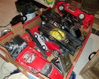 vintage model cars! Batman, corvette, Ferrari, Porsche