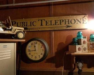 Old school clock and locker