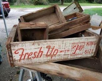 wood crates and soda pop crates