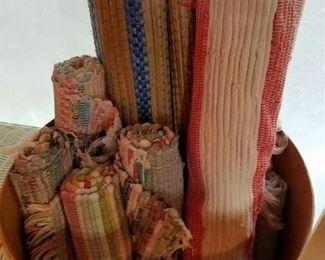 rag rugs, straw mats