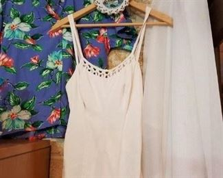 1950s lady's swimsuit! More vintage clothing and Hawaiian shirts