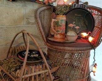 cabana items, flamingo lights, Florida Kitsch!
