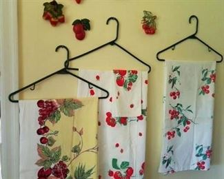 Sweet Cherries!! Sweet linens. All linens washed and line dried! Crisp and clean.