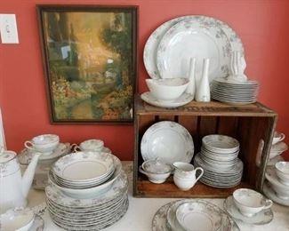 Beautiful set of Noritake Greyburn - Thanksgiving table ready!