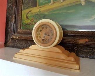 Art Deco celluloid clock