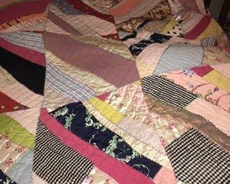 Vintage crazy quilt.