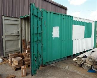 "Convo/Shipping Steel Storage Container, 102"" x 96"" x 238"""