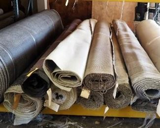 12' Residential And Commercial Carpet Rolls, Various, Lengths, Texture Cnd Colors, Qty 11