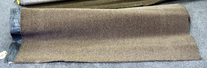 12' x 8.5' Commercial Tight Level Loop Carpet Remnant, Conqueror 26, Hickey Color And 12' x 5.10' Pecan Color Carpet Remnant