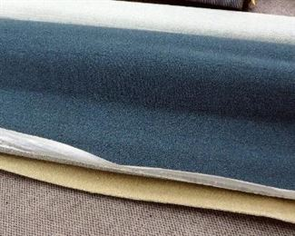 "12' x 7' 10"" Commercial Cut Pile Remnant, Cameo Tweed Color And 11'9"" x 6'9"" Commercial Level Loop, 26oz Unitary Defender Teal Color, Carpet Remnant"