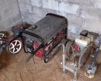 Equipment but generator has been removed from the sale