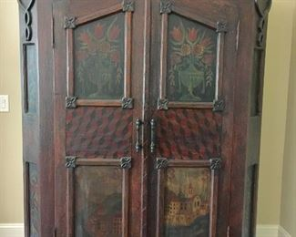 Painted wardrobe/armoire