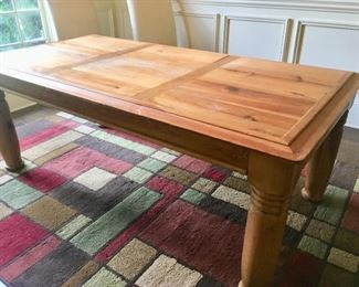Farm style table (priced separately from the chairs)