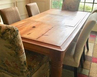 "7'9"" by  3'6"" pine table"