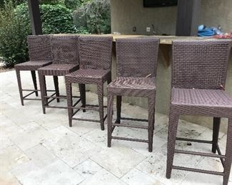 Five outdoor barstools....update: 3 have sold & 2 are available