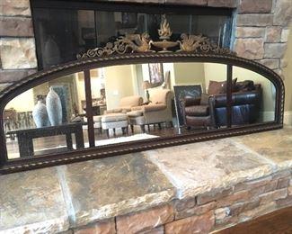 5 ft. wide antique mantle mirror