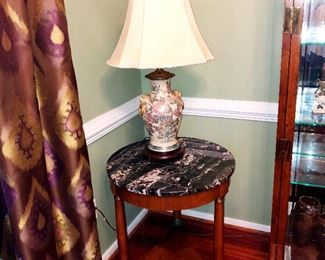 Baker marble top occasional table