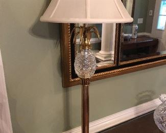 Waterford buffet lamp (one of a pair)