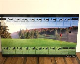 Billiards Golf Autumn Mist Score Board
