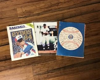 Baseball 1960-80's one Signed Photo, and 2 Programs