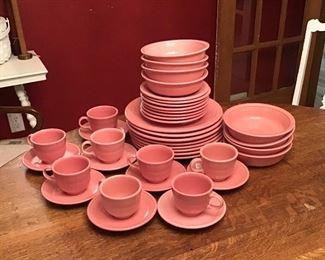 Fiesta Pink Dinnerware.