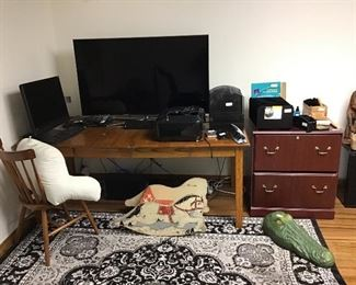 Office computer and other items (Large Screen not for sale).
