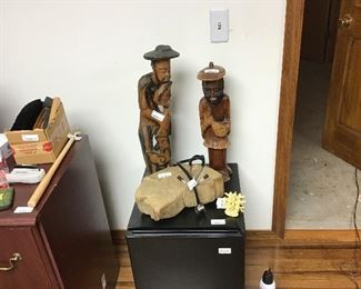 Jamaican Man Carved Figures and more office items