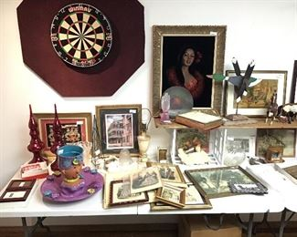 Art and pottery displayed