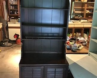 Two-Piece Solid Wood Hutch