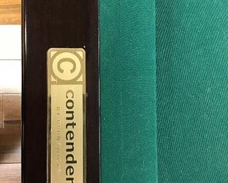 Contender Pocket Billiards label.