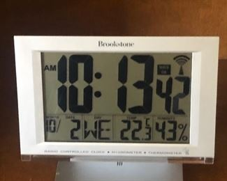 Brook stone clock etc
