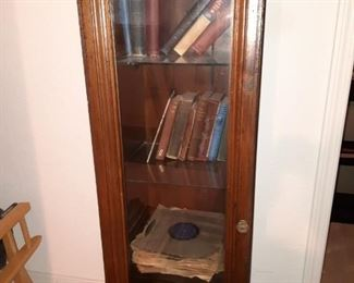 Old gun case made into a book shelf