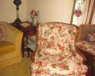 Pair Vintage Parlor Seating and more
