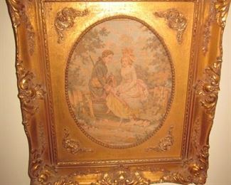 Tapestries with Gold Gilt Antique Frames
