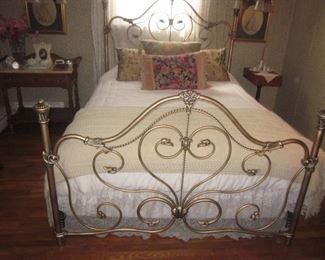 Stunning Antique Queen Bed Frame